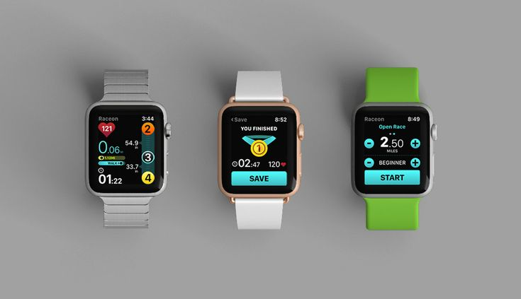 Raceon Running App for Apple Watch and iPhone on Behance