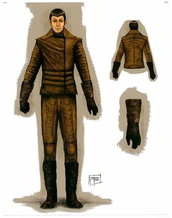 Star Trek (2009).  Vulcan costume sketch.  Costume Design by Michael Kaplan.