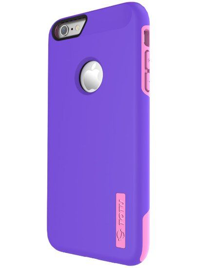 TOTU iPhone 6S Plus Case, Scratch Resistant Thin Armor Dual Layer Protective Hybrid Case Shock Absorbing Technology Case for Apple iPhone 6 plus (2014) and iPhone 6S Plus (2015) - Indigo Violet/Light Rose, 2016 Amazon Top Rated Cases  #Wireless