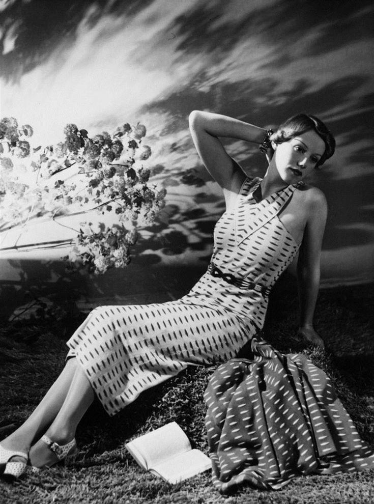 Garden Party Dress, Photo by Yva (Else Neuländer), 1935.