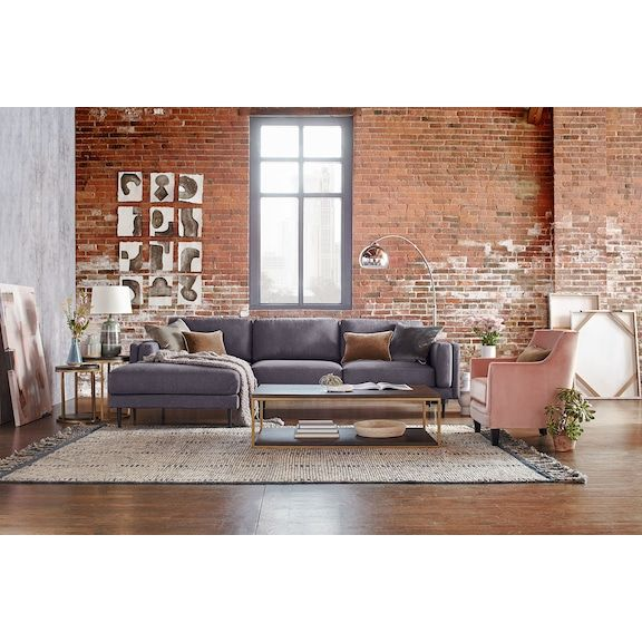 Phenomenal West End 2 Piece Sectional With Chaise Furniture Value Cjindustries Chair Design For Home Cjindustriesco