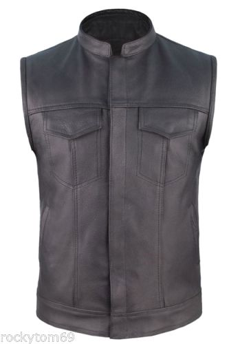 leather cowhide concealed carry vest $55.95 #concealedcarryvest #motorcyclevest #leathervest https://theleatherdropship.com
