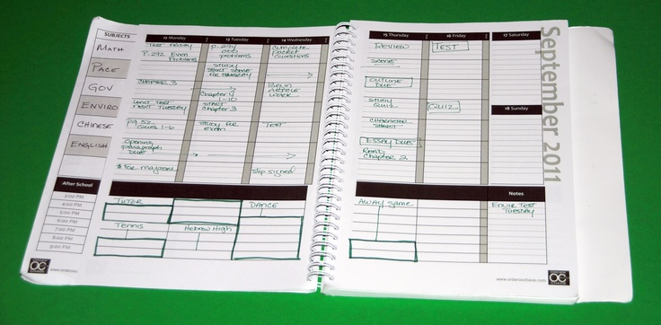 Manage Your Time with an Academic Planner
