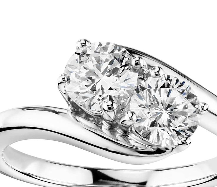 Two-Stone Solitaire Diamond Ring in 14k White Gold (1 ct. tw.) this is beautiful and I love the meaning of this type of ring. Side by side with your soulmate