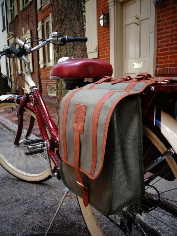 Carmichael & Co. Canvas and Leather Bike Bags - Stylish, durable, waterproof canvas and leather bicycle bags for the city commuter.