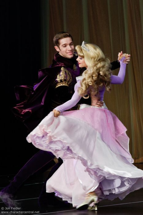 Princess Aurora and Prince Phillip :). I know you, I walked with you once upon a dream!