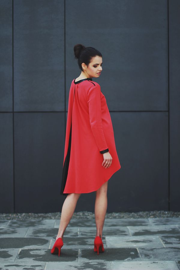 lookbook of my collection on www.otwieramszafe.blogspot.com  red dress for 190 pln/50euro