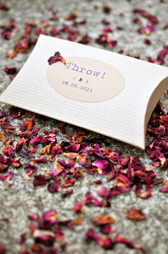 Set Of 25 Personalised Natural Biodegradable Dried Rose Petal Confetti Kraft Bo More Great Ideas