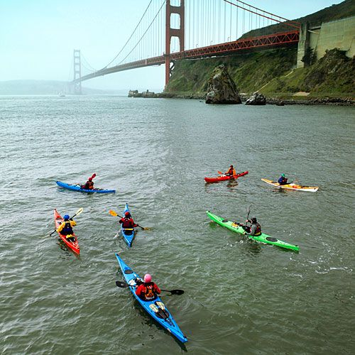Best San Francisco Bay Area paddling adventures - California Canoe  Kayak's Open Coast class. Best San Francisco Bay Area Water Sports - Sunset.com