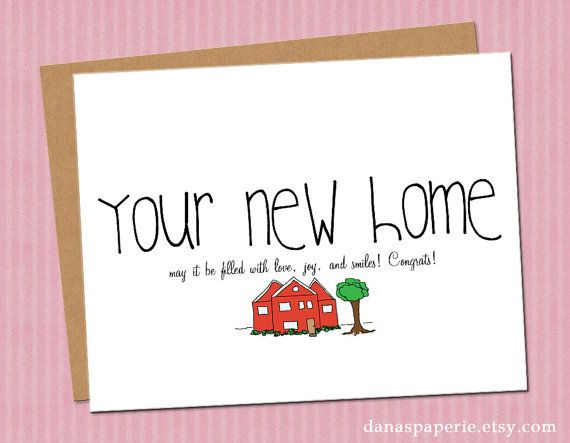Congratulations On Your New Home Card!