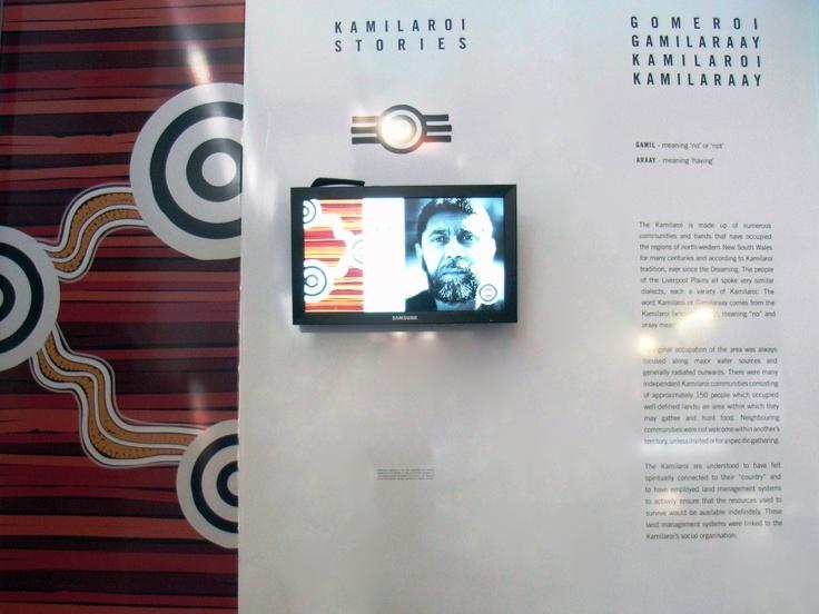 Kamilaroi Stories. Touchscreen installation of stories by local Kamilaroi elders