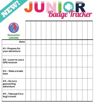 Revised! Junior Girl Scout Troop Badge Requirement Tracker [.doc] with all requirements for each badge