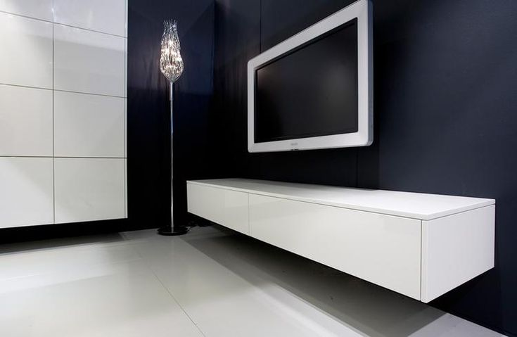 Bekijk de foto van vdpoorten met als titel modern zwevend wit televisie meubel en andere inspirerende plaatjes op Welke.nl.