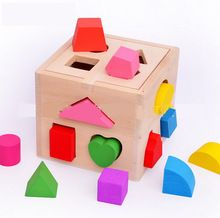 Educativos montessori reconocer de matemáticas y colores con forma bloques de madera para el bebé de 1-3 años de edad(China (Mainland))