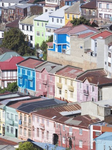 Traditional Colourful Houses, Valparaiso, Unesco World Heritage Site, Chile, South America Outro