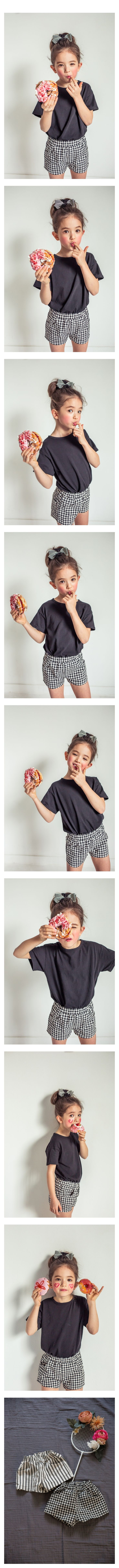 MICCA - Korean Children Fashion - #Kfashion4kids - Span Half Pants