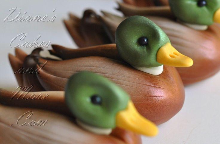Mallard Ducks Cake Topper by Diane's Cakes - for Jordan