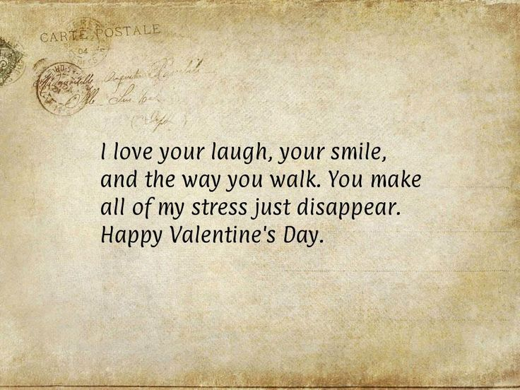 Love Quotes For Him On Your Wedding Day : love your laugh, your smile, and the way you walk. You make all of ...