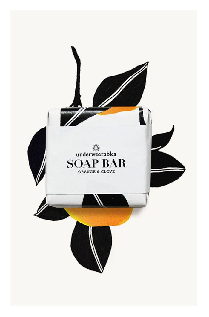 Feminine, bold & graphic Illustrations for the design & packaging of the Underwearables soap bars