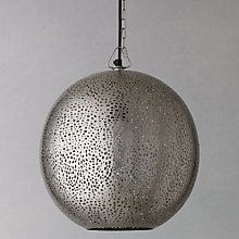 Buy John Lewis Lyra Etched Metal Ceiling Light Online at johnlewis.com