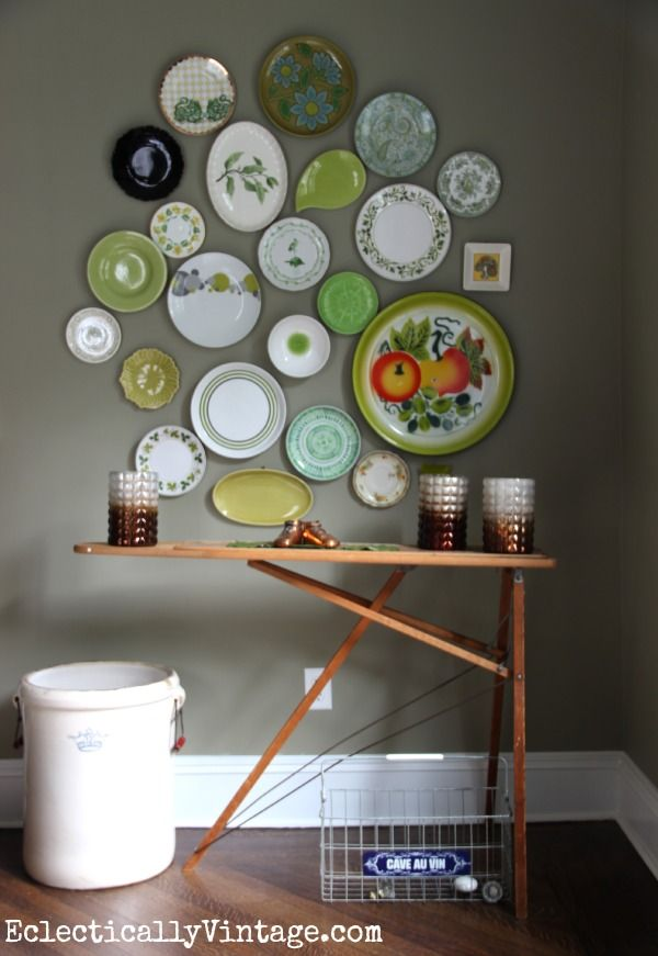 An old wood ironing board is the perfect buffet table eclecticallyvintage.com #EclecticallyFall