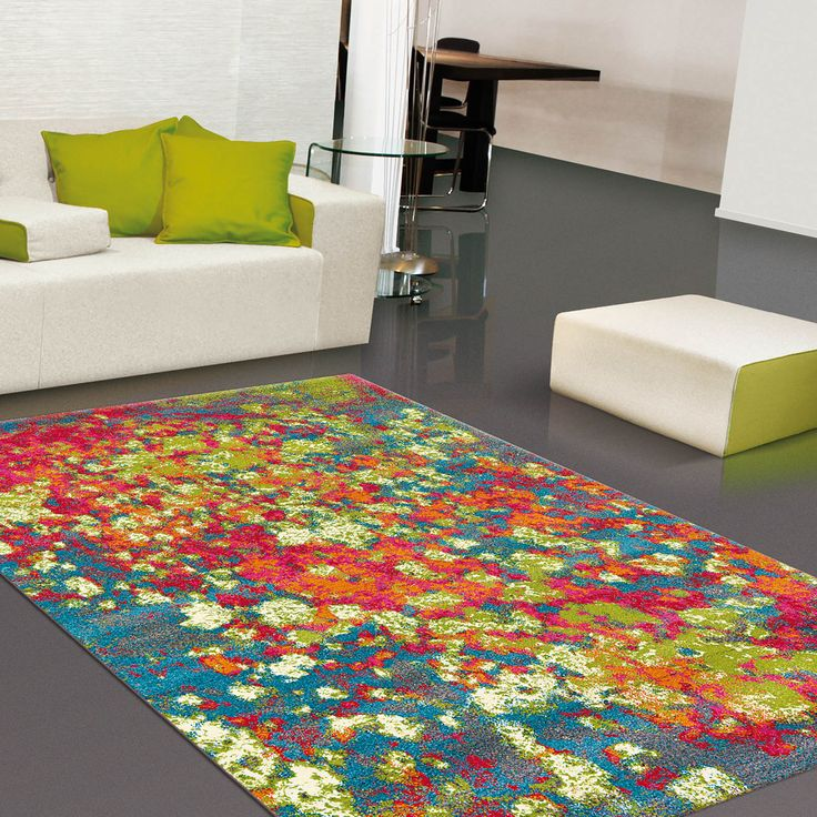 Clash Rugs will make a statement to any room with this unique and stylish design with a which contains sprays of bold colour tones. #HomeDecor #Rugs
