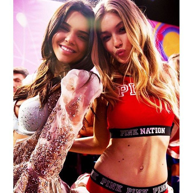 Pin for Later: Gigi and Kendall Bring Their BFF Status to the VS Fashion Show