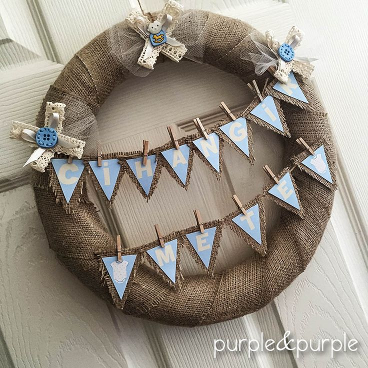 Hastane Odası Süslemeleri | Hoşgeldin Bebek Hediyelikleri | Bebek Tulumu Temalı Çikolata | Çuval Kapı Süsü | It's a boy | Welcome Baby | Party Favors | Burlap Wreath