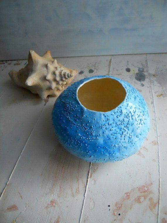 Azzurra  ciotola mache'  paper bowl di Djaliforyou su Etsy