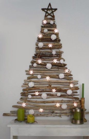 Compartimos otra idea de decoracion #DIY navideña con un original arbolito navideño.