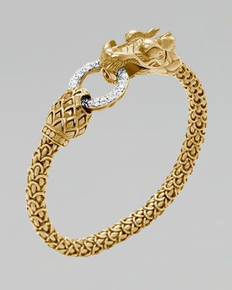 John Hardy Gold Naga Dragon Diamond O-Ring Bracelet - Neiman Marcus $11,500.00