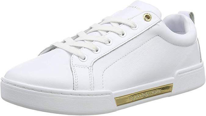 Tommy Hilfiger Outsole Metallic Sneaker Zapatillas Para Mujer Blanco White Ybs 37 Eu Amazon Es Zapatos Y Comp Zapatillas Mujer Tommy Hilfiger Zapatillas