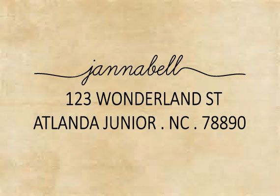 Custom Personalized Return Address Mounted Rubber Stamp AW26