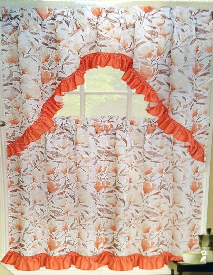 Tratamiento de ventana de cocina de especias Jayde Floral Cortinas 3 PC Set Niveles Cenefa Swag   Hogar y jardín, Decoración y herrajes para ventanas, Cortinas y volantes   eBay!