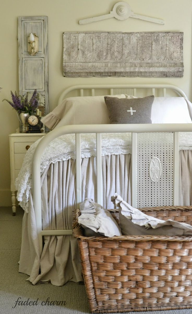 Shabby chic cottage romantic cabin bungalow decor~By the Bed~ - Faded*Charm