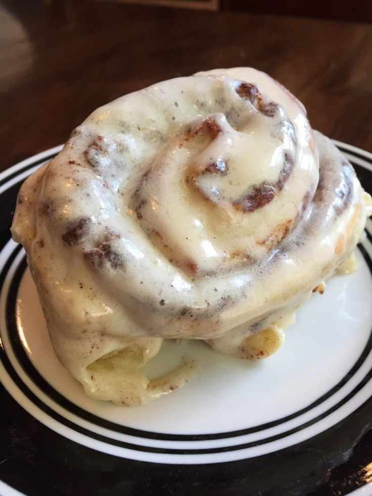 The best cinnamon roll frosting