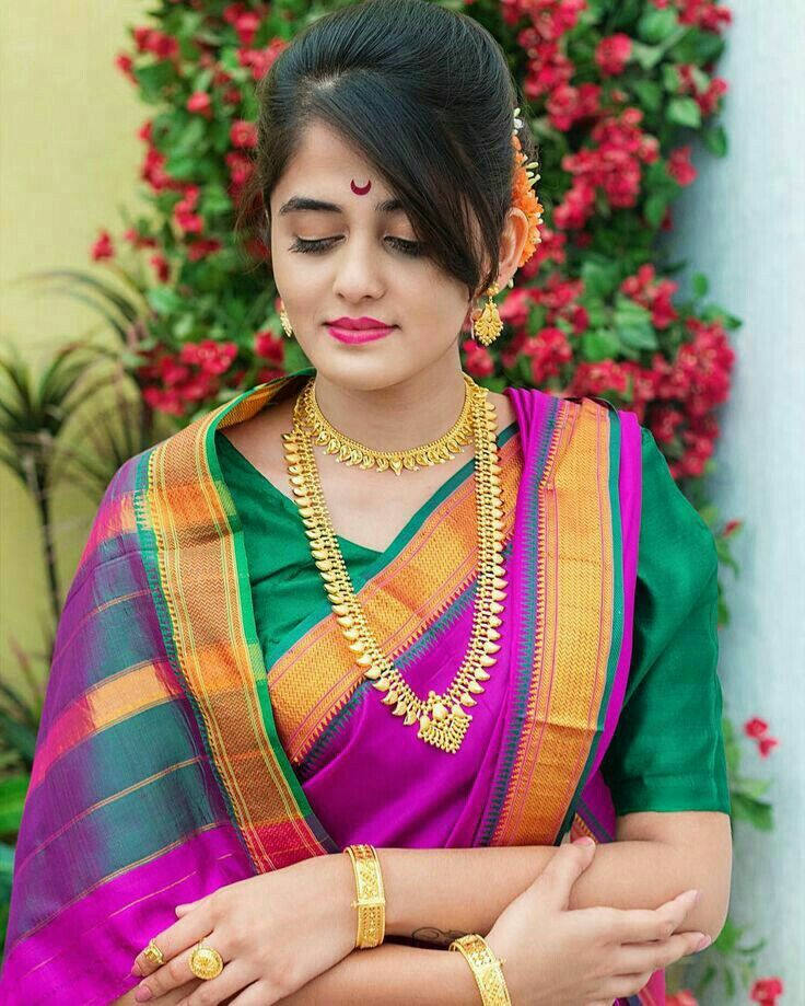 Pin By 徳権 王 On インド女性 Kashta Saree Marathi Saree