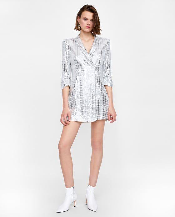 VESTIDO BLAZER METALIZADO   Fashion - stuff to buy   Blazer dress ... fc4d328bbd