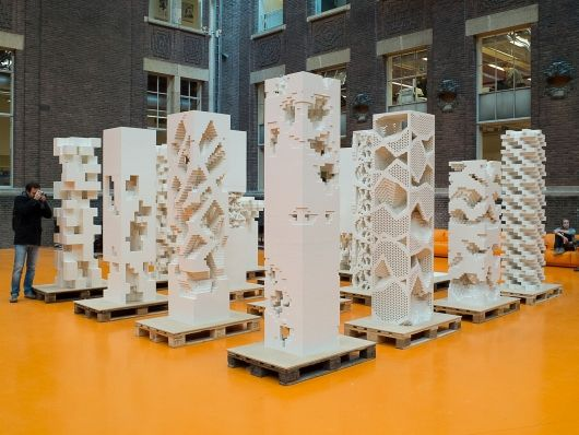 """Bustler: MVRDV Builds """"Porous City"""" Exhibition with LEGOs in Cannes"""