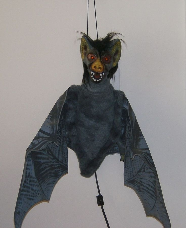 Vintage Telco Motionette Halloween Animated Scary Bat