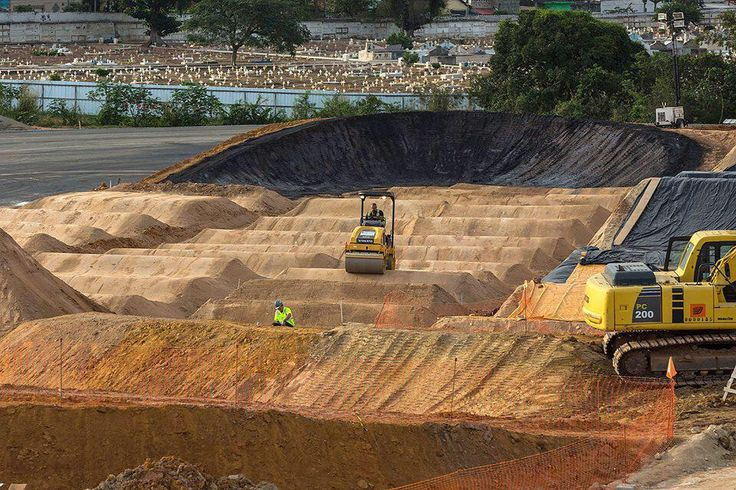 The Rio 2016 BMX track is well and truly starting to take shape!! #RoadToRio