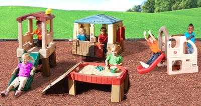 PlayDay™ Toddler Playground. Age Range: (1-3) | 4 seperate play-areas. Also includes 2 shovels, 2 scoops, and a bucket. (Cost: 629  USD)