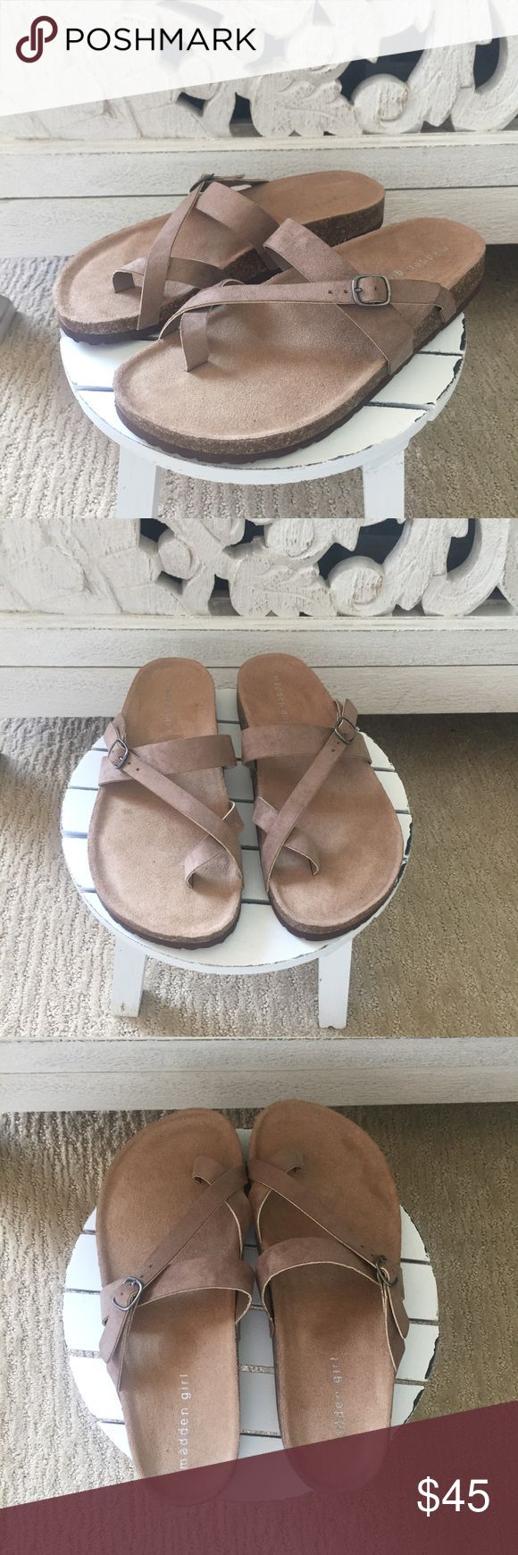Steve Madden Birkenstocks Steve Madden Birkenstocks. Madden Girl brand. Perfect for a casual summer look. Cute & comfy! BRAND NEW, NEVER WORN. Madden Girl Shoes Sandals