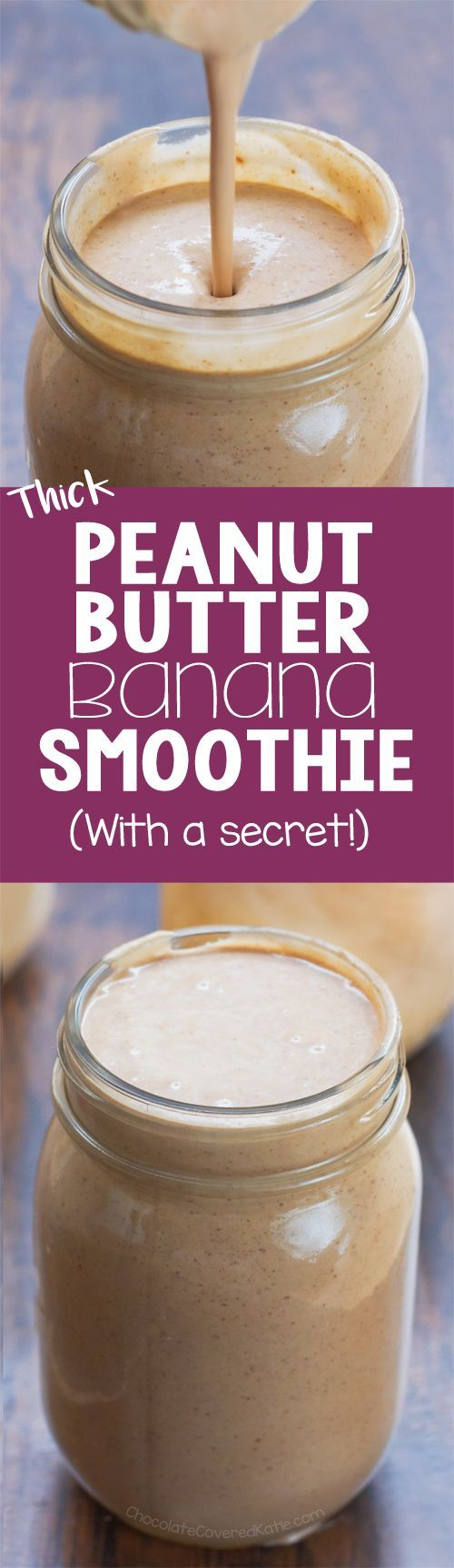 I make one of these smoothies every day for breakfast - it is the best peanut butter banana smoothie recipe, and healthy