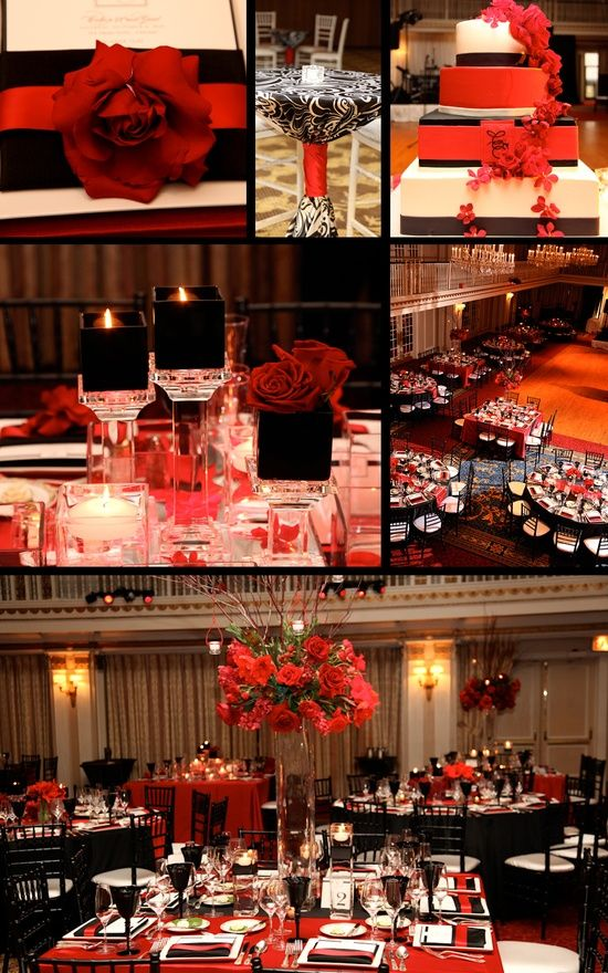 Red and Black wedding - my parent's weddding colors :)