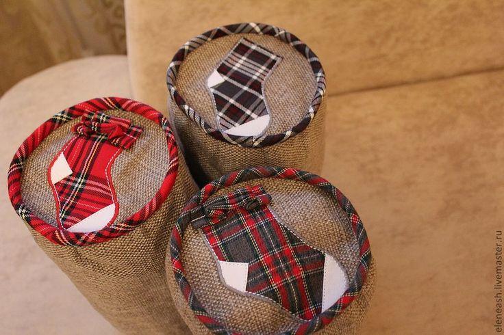 """Купить Сумки для носков """"Шотландка"""" - сумочка, мешочек, для белья, хранение, для вещей, в подарок, практично"""