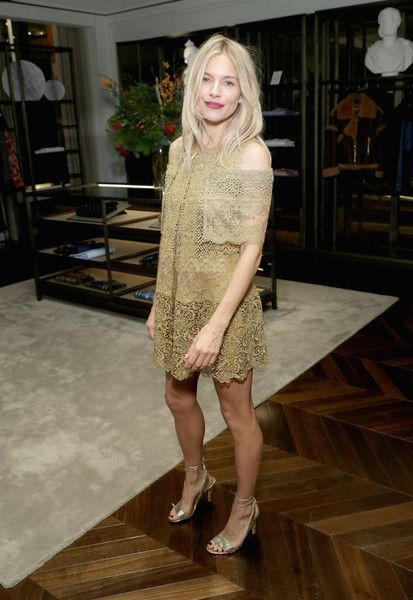 Actress Sienna Miller attends the celebration of 'The Tale of Thomas Burberry' with Sienna Miller and Dominic West at Burberry Soho on November 14, 2016 in New York City.
