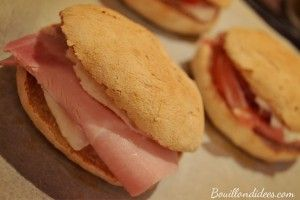 Pitas petits pains sandwich buns sans GLO (gluten, lait, oeuf)  Bouillondidees