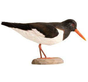 DecoBird Oystercatcher handcarved wooden bird for the marine interior by Wildlife Garden of Sweden wildlifegarden.info