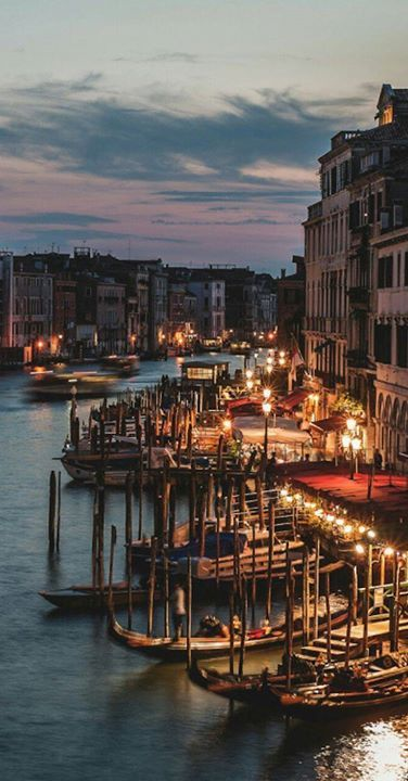 The Grand Canals  main waterway of Venice follows a natural channel that traces a reverse S course from San Maria Basilica to Santa Chiara Church & divides the city into two parts